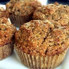 Banana Bran Muffins Recipe - Bran lends a nutty flavor and makes these sweet indulgences a little more healthy. Banana Bran Muffins, Banana Nut Bread, Breakfast Muffins, Breakfast Recipes, Banana Recipes, Muffin Recipes, Fun Recipes, Vegan Recipes, Muffin Bread