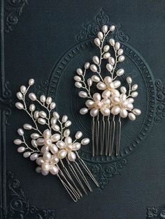 Set of Simple and elegant small size freshwater pearl bridal hair combs, bridal hair comb, wedding hair comb, bridal accessories, bridal hea Source by. Wedding Hair Pins, Wedding Hair Flowers, Wedding Gowns, Flower Hair, Wedding Rings, Wedding Shoes, Bridal Comb, Bridal Headpieces, Pearl Bridal