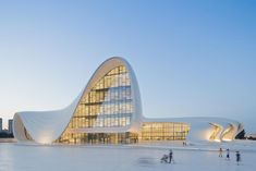 Zaha Hadid gives to the world modern architecture design today Zaha Hadid first memorial day. Zaha Hadid Architect many inspirational architecture projects in her career life. Heydar Aliyev Center located at Azerbaijan. Zaha Hadid Architecture, Architecture Design, Futuristic Architecture, Amazing Architecture, Contemporary Architecture, Condominium Architecture, Architecture Office, Office Buildings, Chinese Architecture