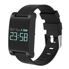 #Zapals - #Zapals DM68 Waterproof OLED Large Touch Screen Smart Watch Heart Rate Wristband - AdoreWe.com