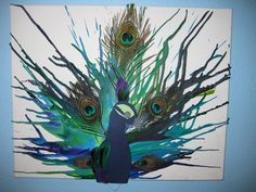 Peacock Melted Crayon