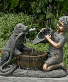 Another great find on #zulily! Dog, Gardening Hose & Child Fountain #zulilyfinds