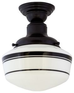 Dress it up or dress it down! Our Intermediate Schoolhouse Semi-Flush Mount Light can take on any number of personalities thanks to the multiple finish options