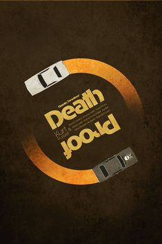 deathproof1 70 Powerful Examples of Minimal Movie Poster Designs