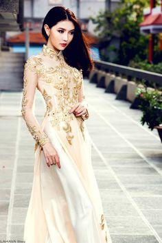 Một số mẫu áo dài cưới 2016 đẹp quyến rũ cho cô dâu