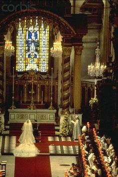 July Lady Diana Spencer marries Prince Charles at St. Paul's Cathedral in London. Diana Wedding Dress, Princess Diana Wedding, Prince And Princess, Princess Of Wales, Charles And Diana Wedding, Prince Charles And Diana, Lady Diana Spencer, Spencer Family, Royal Brides