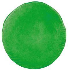GREEN VELVET PENNY ROUND CUSHION COVER