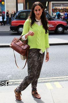 Fab lime green knitwear