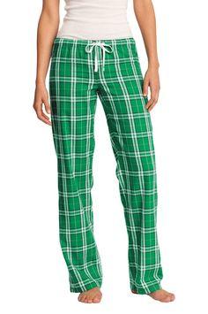 District Womens Juniors Cotton Flannel Plaid Lounge Pants DT2800