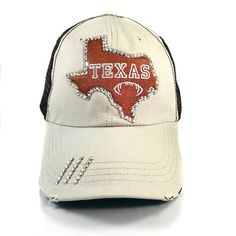 Hey, I found this really awesome Etsy listing at https://www.etsy.com/listing/477575901/texas-longhorns-baseball-cap-for-women