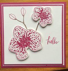 Simple card using Stampin' Up! Orchid Builder. www.moonsongdesigns.com