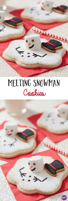 Almost too cute to eat, these Melting Snowmen cookies delight kids and adults alike. They are easy to bake, decorate and assemble using the Wilton Melted Snowman Cutter Set. Place them under the tree or tuck then into stockings for a Christmas morning surprise.