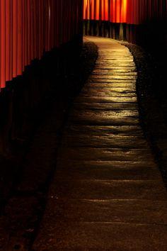 Torri gates of Fushimi Inari Shrine, Kyoto, Japan: photo by Jiro
