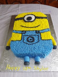 Cake Board, Cake Creations, Minions, Happy, Bags, Fictional Characters, Handbags, Cake Carrier, The Minions