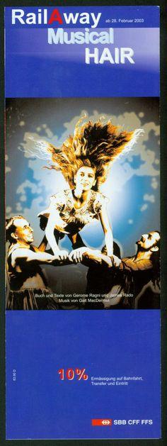 HAIR - THE AMERCIAN TRIBAL LOVE ROCK MUSICAL - 2003 BASEL SWITZERLAND - FLYER