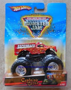2009 Hot Wheels #1/75 Backdraft Monster Jam Fire Rescue Vehicle Factory Error #HotWheels #diecast