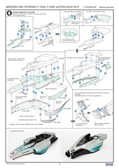 MERCEDES AMG PETRONAS F1 TEAM -F1 W06 AUSTRALIAN GP 2015 assembly instructions_06 (DrJohnBullas) Tags: car paper print one mercedes official team model superb petronas craft formula epson build partner amg templates