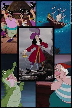 Disney villains, Captain Hook from Peter Pan Walt Disney, Disney Magic, Disney Art, Disney Pixar, Peter Pan And Tinkerbell, Peter Pan Disney, Disney Dream, Disney Love, Disney Villains