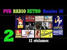 PUB RADIO RETRO Années 50-partie2/6 (100 réclames radiophoniques sur Radio Luxembourg) - YouTube Radios, Pub Radio, Luxembourg