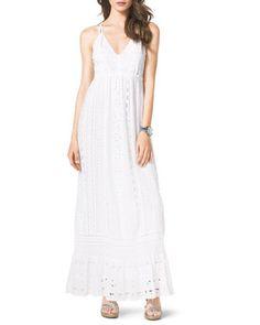 Cotton Eyelet Maxi Dress by MICHAEL Michael Kors at Neiman Marcus.