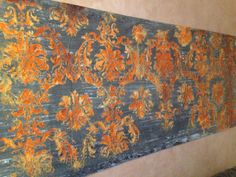7 Foot canvas. Modern Master Metal Effects Bronze Patina & Rust Canvas by Tom Henman