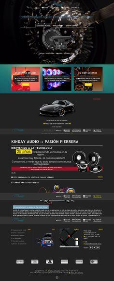 diseño web para los productos y servicios de empresa de instalación de equipamientos de Audio Car
