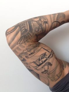 Egyptian tattoo sleeve More