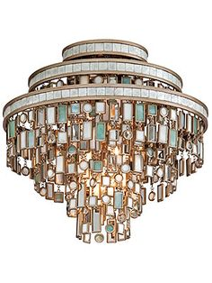 Dolcetti three light flush mount lighting fixture from House of Antique Hardware