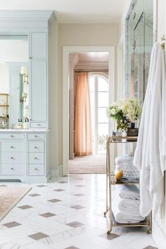 Project in Brief - Rach Parcell Home Bathroom Interior Design, Interior Decorating, Gray Bathroom Decor, Bathroom Goals, Bathroom Flooring, Home Luxury, Home And Deco, Beautiful Bathrooms, Bathroom Inspiration