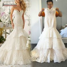Nice 2017 New White/Ivory Mermaid Wedding Dresses Lace Bridal Gowns Custom Made 2-26W 2017-2018 Check more at http://fashion-look.top/product/2017-new-whiteivory-mermaid-wedding-dresses-lace-bridal-gowns-custom-made-2-26w-2017-2018/