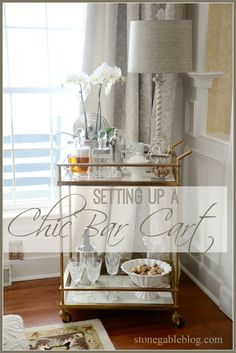 FUN FABULOUS NON ALCOHOLIC BAR CART AND HERB CITRUS MOCKTAIL RECIPES    I like this idea for my cart - non alcoholic set up