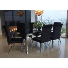 Louis 160cm Dining Table / Set with 6 Velvet