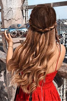 A twisted braid adds a romantic girly touch to your look.