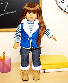 Found on ltdcommodities.com 18 inch brunnette doll. For Estella's (5th?) birthday.