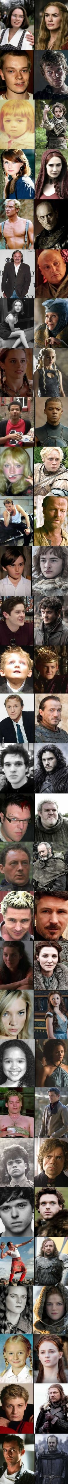 Game of Thrones stars when they were younger.