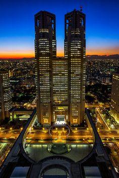Tokyo Metropolitan Government Building Japan 2013 東京都庁舎 by Sandro Bisaro on Flickr.