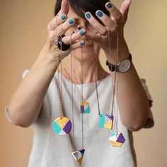 Painted Air-Dry Clay Necklaces Tutorial