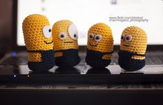 MINION BUDDIES - this would be easy to recreate in crochet.