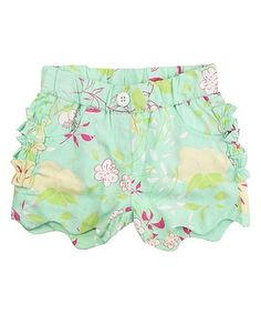 Another great find on #zulily! Blue & Pink Floral Serenity Shorts - Infant & Kids #zulilyfinds