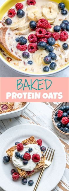 Baked Protein Oats for Clean Eating Mornings! - Baked Protein Oats for Clean Eating Mornings! Detox Breakfast, Clean Eating Breakfast, Clean Eating Diet, Breakfast Recipes, Breakfast Ideas, Eating Vegan, Detox Recipes, Clean Eating Recipes, Detox Meals