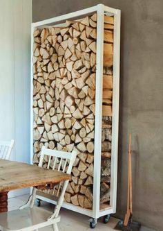 Tuesday Tips - Ondoor Firewood Storage DIY and photo by Trine Thorsen