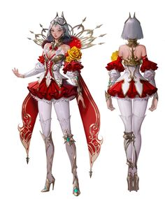 ArtStation - Queen of flowers, geumsil lee Female Character Design, Character Design References, Character Design Inspiration, Character Concept, Character Art, Concept Art, Fantasy Characters, Female Characters, Art Model