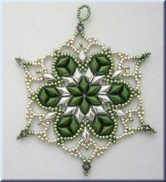 Weihnachtsornament mit GemDuo-Beads Anleitung/Pattern
