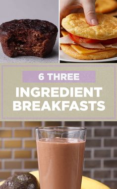 You only need 3 INGREDIENTS for these breakfasts !