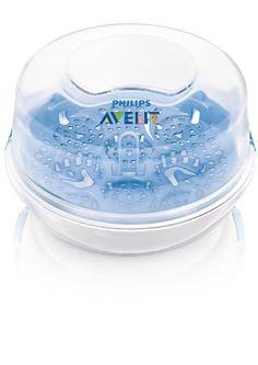 Philips Avent SCF281/02 - Esterilizador a vapor de microondas ideal para viajes, esteriliza los biberones de tu bebé en tan solo 2 minutos, elimina un 99,9% de gérmenes dañinos