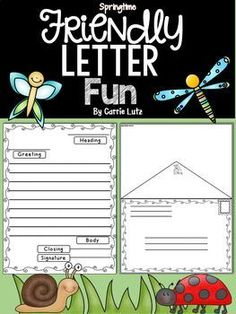 Friendly Letter Templates Bundle  Friendly Letter Template And