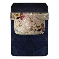 Leather Bottle Opener Pocket Protector w/ Designer Flap - Rustic Floral - 500