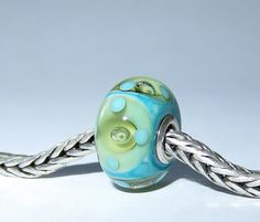 Luccicare Lampwork Bead - Sea Fantasy -  Lined with Sterling Silver by Luccicare on Etsy