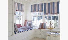 Beach inspired interior using fabrics from Prestigious Textiles. www.damasceneinteriors.co.uk