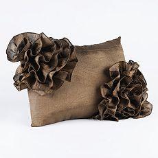 chocolate satin throw pillow